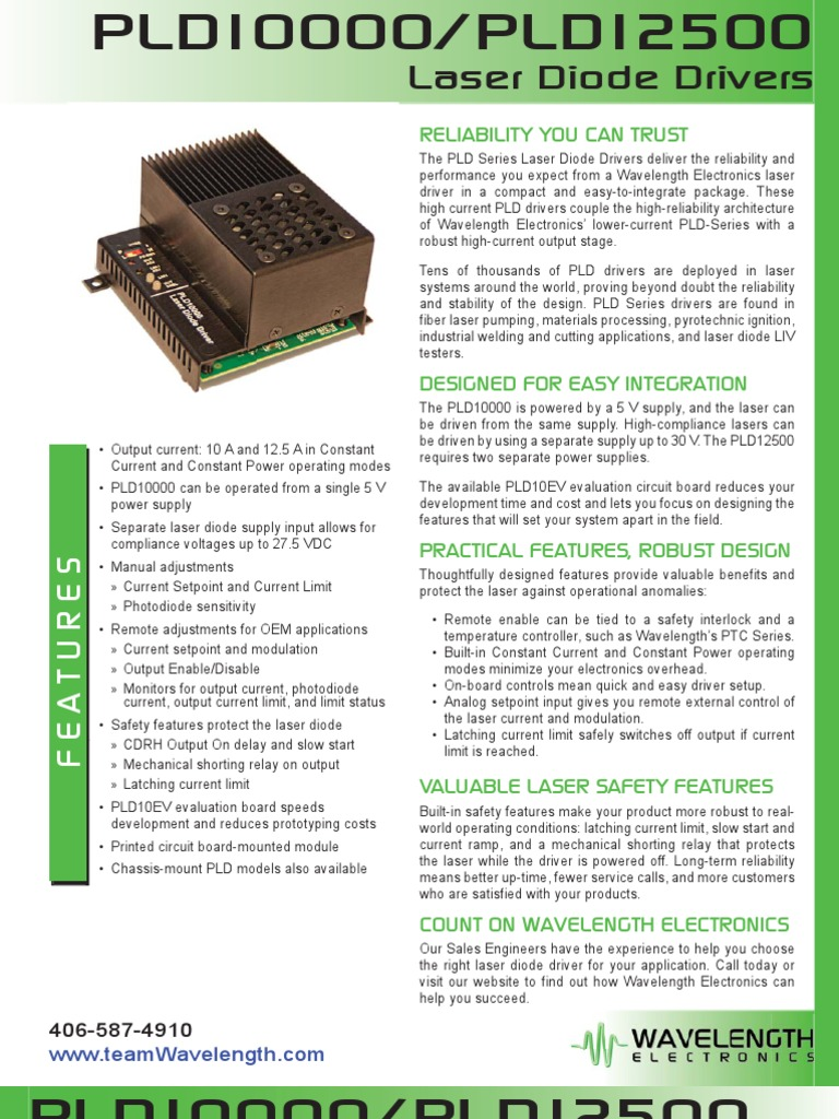Pld10000 Pld12500 Laser Diode Driver Brochure Power Supply Circuit 1