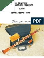 Score Pieza de Concierto Para Clarinete y Orquesta.