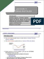 LECCIÓN 11 - SISTEMAS DIGITALES