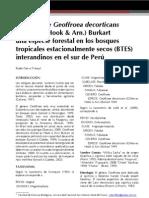 Notas Sobre Geoffroea Decorticans Una Especie Forestal en Los Bosques Tropicales Estacionalmente Secos (Btes) Interandinos en Le Sur Del Peru