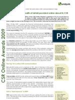 CSR Online Awards 2009 Italy - English Executive Summary