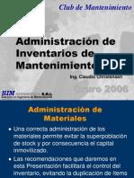 Presentación Inventario Oruro 2006