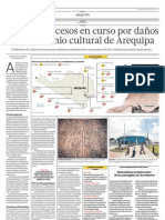 Hay 109 procesos en curso por daños al patrimonio cultural de Arequipa
