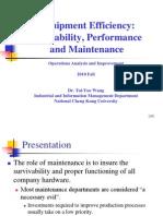 6. Equipment Efficiency Availability