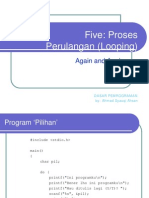 Bab 6 Perulangan Proses (Latihan)