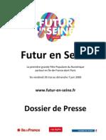 Dossier de Presse Futur en Seine