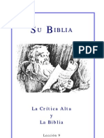 La Biblia y La Alta Critica