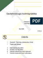 Geotehnoloogia Tootmispraktik M.ring