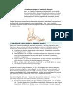 Por qué es importante el cuidado de los pies en el paciente diabético