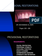 Lecture 23- Provisional Restorations
