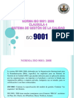Expo Iso 9001 Clausula 4