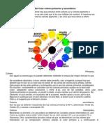 Teoría Del Color colores primarios y secundarios