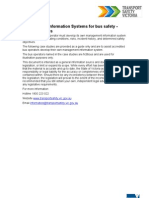 Management Information Systems for Bus Safety Case Studies