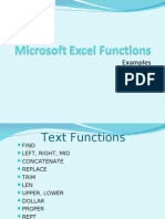Microsoft Excel Functions Examples