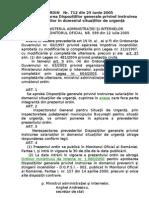 ORDIN 712 - 2005 instruire-15 pagini
