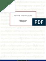 Finance & Economics Terms