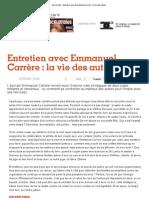 Les Inrocks - Entretien avec Emmanuel Carrère _ la vie des autres