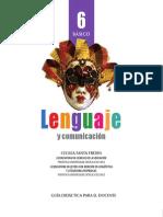 guia del docente lenguaje 6°