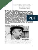 1958  DEROGACIÓN DE LA LEY MALDITA