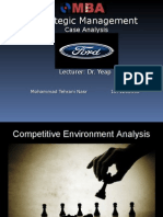 Ford 's Competitors Analysis
