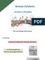 Aula 7 - Membrana celular - estrutura e função