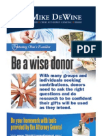 Wise Donor Palm Card