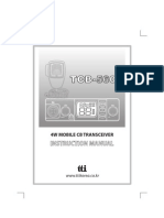 TTI - TCB560 User Manual, multi-norm CB radio