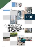 programme colloque révolution numérique et mutations urbaines - futur en seine