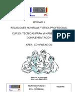 Md Relaciones Humanas y Ética Profesional (Unid 1)150h