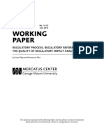 Regulatory Process, Regulatory Reform, and the Quality of Regulatory Impact Analysis