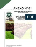ANEXO Nº 01 fabricacion e instalacion de tuberias