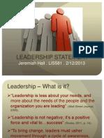 Library Leadership Presentation