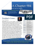 Chapter 984 August Newsletter