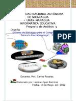 Proyecto Analicis y Diseño_Lesbia