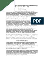 EL PSICOANÁLISIS Y LOS DIAGNÓSTICOS DE NUESTRA EPOCA