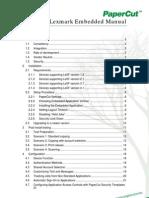 PaperCut MF - Lexmark Embedded Manual