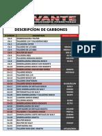 Descripcion de Carbones Para Clientes