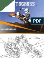 Nat's Motocross Colouring Book