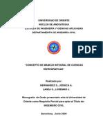 TESIS. Concepto de Manejo Integral de Cuencas Hidrograficas