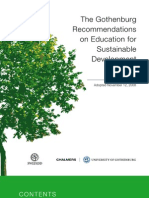 Goteborgs Recommendation on Education for Sustainable Development