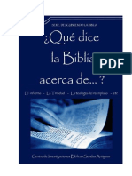 QUÉ DICE LA BIBLIA ACERCA DE...