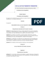 Reglamento de La Ley de Transito Terrestre