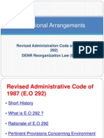 DENR Reorganization Law and The 1987 Administrative Code of the Philippines Powerpoint plus LLDA. Nat Res Report