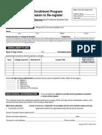Re-registration Dual Enrollment