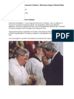 John Kerry Receives Communion in Boston - Miraculous Image of Aborted Baby [PHOTOS]