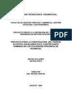 Proyecto Para La Construccion de Un Parque Acuatico