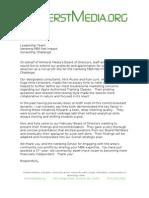 Amherst Media Net Impact Letter of Thanks - Jim Lescault