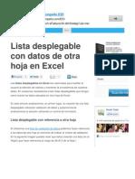 Exceltotal Com Lista Desplegable Con Datos de Otra Hoja en Excel