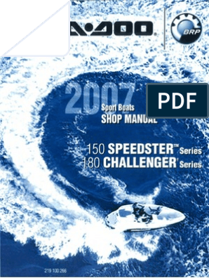 Seadoo 07 Speedster 150 Challenger 180 Boats pdf | Throttle