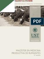 Magister en Medicina de Rumiantes UNIVERSIDAD SANTO TOMAS